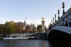 Ponte de Alexandre III Fotografia de Stock