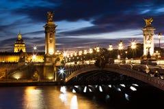 Ponte de Alexandre III Imagens de Stock