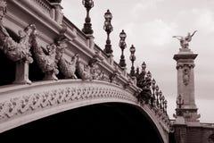 Ponte de Alexandre III, Paris Fotos de Stock
