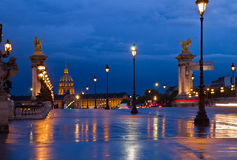 Ponte de Alexandre III, Paris, France Imagem de Stock Royalty Free