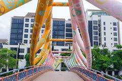Ponte de Alkaff, ponte bonita sobre o rio para andar fotos de stock