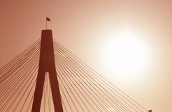 Ponte de Anzac na luz da noite Fotografia de Stock Royalty Free