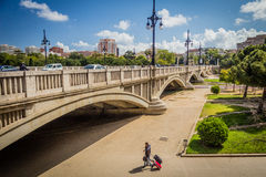 Ponte de Aragon Valença, Spain Foto de Stock