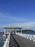 Ponte de Atsadang em Ko Sichang em Tailândia Fotografia de Stock Royalty Free