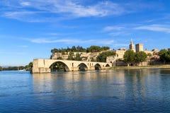 Ponte de Avignon e papas Palácio, France fotografia de stock royalty free