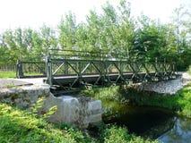Ponte de Bailey para o caminhão de ciclagem fotografia de stock royalty free