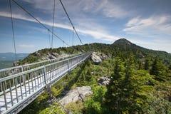 Ponte de balanço elevada Linville da milha NC Imagens de Stock Royalty Free