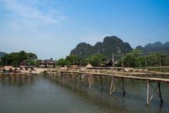 Ponte de bambu Fotografia de Stock Royalty Free