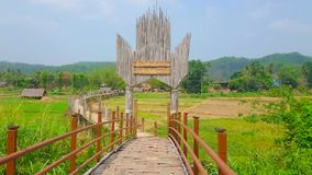 Ponte de bambu da SU Tong Pae, Mae Hong Son, Tailândia vídeos de arquivo