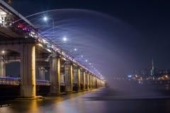 Ponte de Banpo em Seoul, Coreia do Sul imagem de stock royalty free