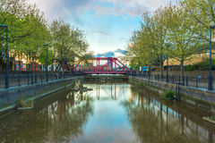 Ponte de Bascule na água de Surrey Fotografia de Stock Royalty Free