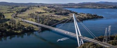 Ponte de Batman pelo rio de Tamar perto de Sidmouth Fotos de Stock