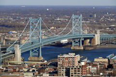 Ponte de Ben Franklin de Philadelphfia Imagens de Stock