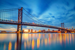 Ponte de Ben Franklin em Philadelphfia Imagens de Stock