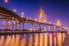 Ponte de Bhumibol Fotografia de Stock Royalty Free