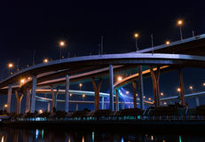 Ponte de Bhumibol em Tailândia Fotografia de Stock