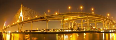 Ponte de Bhumibol em Tailândia Foto de Stock Royalty Free