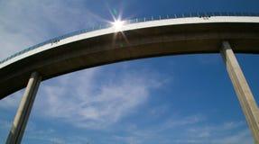 A ponte de Bhumibol ou a ponte de anéis industriais são concreta Fotografia de Stock