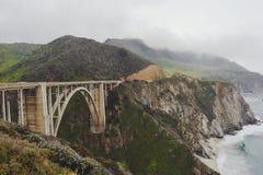 Ponte de Bixby, Big Sur, CA Imagem de Stock