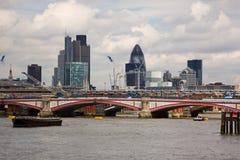 Ponte de Blackfriars em Londres Imagem de Stock