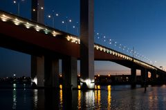 Ponte de Bolte no crepúsculo Fotos de Stock Royalty Free