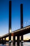 Ponte de Bolte no crepúsculo Imagens de Stock