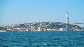 A ponte de Bosphorus em Istambul video estoque