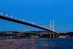 Ponte de Bosphorus, Istambul, Turquia Imagem de Stock