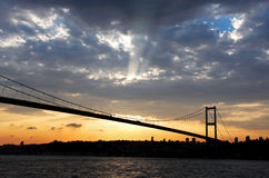 Ponte de Bosporus em Istambul Foto de Stock