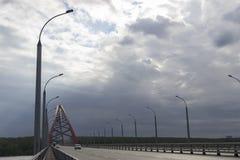 Ponte de Bougreen e nuvens escuras Imagens de Stock Royalty Free