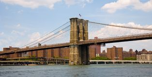 A ponte de Brooklyn Fotos de Stock