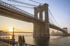 A ponte de Brooklyn Fotografia de Stock Royalty Free
