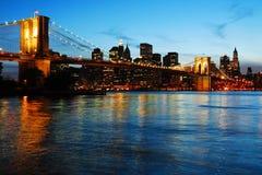 Ponte de Brooklyn e mais baixo manhattan fotografia de stock royalty free