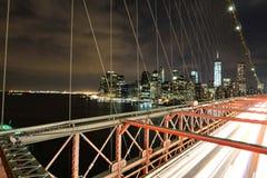 Ponte de Brooklyn e Manhattan Fotografia de Stock Royalty Free