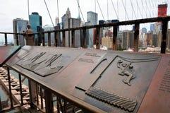 Ponte de Brooklyn em Manhattan New York Imagem de Stock