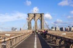 Ponte de Brooklyn em New York Foto de Stock
