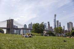 Ponte de Brooklyn em New York City Fotografia de Stock Royalty Free