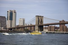 Ponte de Brooklyn em New York City Imagem de Stock Royalty Free