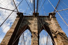 Ponte de Brooklyn em New York City Fotografia de Stock