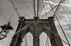 Ponte de Brooklyn em New York City Foto de Stock