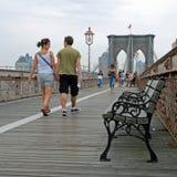 A ponte de Brooklyn em New York City Imagem de Stock Royalty Free