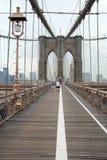 A ponte de Brooklyn em New York City Fotos de Stock Royalty Free