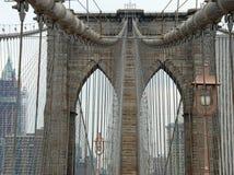 A ponte de Brooklyn em New York City Imagens de Stock