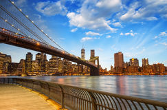 A ponte de Brooklyn em New York City Foto de Stock Royalty Free