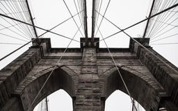 Ponte de Brooklyn em New York City fotografia de stock royalty free