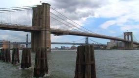 Ponte de Brooklyn em New York City video estoque
