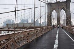 Ponte de Brooklyn Manhattan, jork nowy Fotografia de Stock