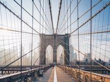 Ponte de Brooklyn na manhã imagens de stock royalty free