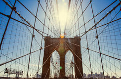 Ponte de Brooklyn, New York City Foto de Stock