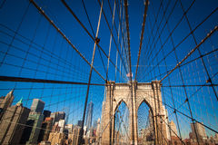 Ponte de Brooklyn, New York City Fotos de Stock